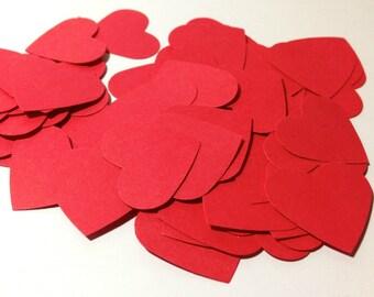 Red Heart Confetti - Wedding Confetti - Paper Confetti - Valentine's Day Confetti - Paper Hearts - Shower Confetti - Love Hearts - V-Day