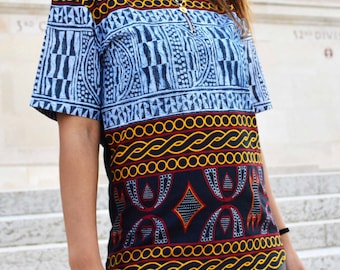Mini tunic made from African fabric