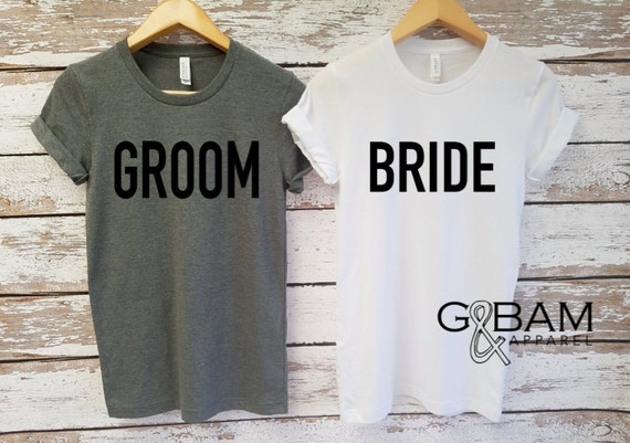 Bride & Groom Shirts Unisex T-shirt / Groom shirt/ Bride Shirt / Future MR and MRS