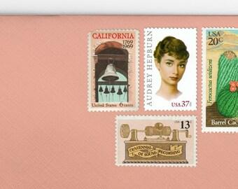 Posts (5) 2 oz wedding invitations - California Romantic Desert Boho unused vintage postage stamp sets (2 ounce 71 cent rate)