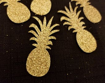 Gold Pineapple Party   Gold Pineapple Confetti   Pineapple Party Confetti   Tropical Party   Pineapple Confetti   Tropical Confetti