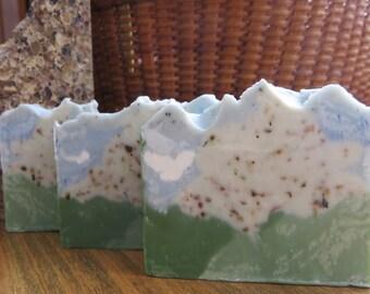 Mount Washington Soap, All Natural Soap, Juniper Soap, Handmade Soap, Bar Soap, New Hampshire, Artisan, Hikers Soap Unisex Gift Novelty Soap