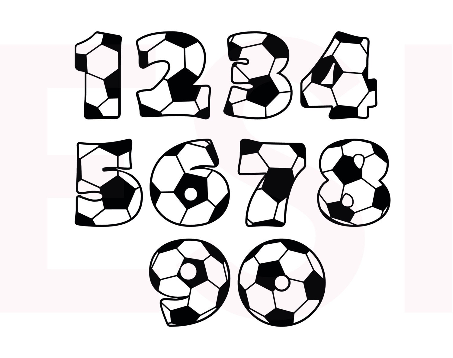 Soccer SVG DXF EPS cutting files for use in Silhouette