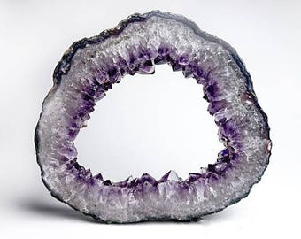 Amethyst Geode Slice From Brazil