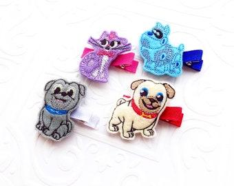 The Puppy Dog Pals Feltie- Headband or Hair Clip- Bingo, Rolly, Hissy, A.R.F.