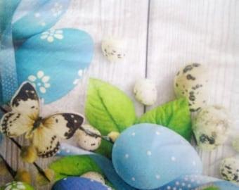 set of 2 quail eggs paper napkins