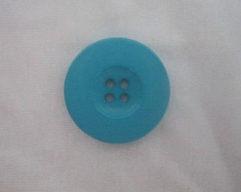 """1"""" Turquoise Button plastic Sewing Buttons pack of 7 four holes Craft buttons Aqua Blue 25mm 40L size Sewing button coat & jacket Buttons"""
