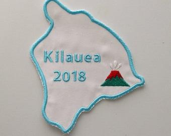 Kilauea Volcano, Volcano Eruption Patch, Hawaii Volcano Eruption, Iron On Patch, Mt. Kilauea, Mount Kilauea, Volcano Patch, Embroidery
