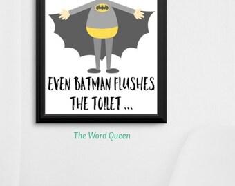 Batman Toilet/bathroom/children's print