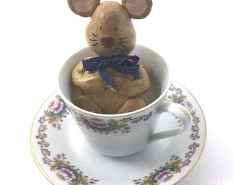 Sleeping Dormouse in teacup