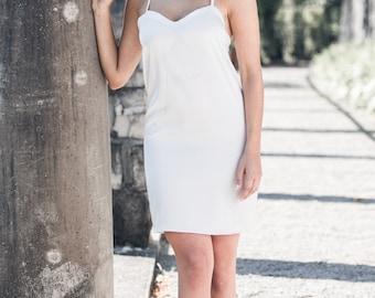 Satin Slip Dress, Bridal Slip, Satin Dress, Satin Pyjamas, White Slip Dress