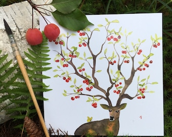 "2 greeting cards ""4 seasons - summer"" handmade watercolor * 2 Greetings cards ""4 Seasons - Summer"" handmade watercolor"