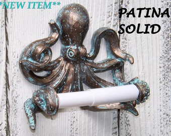 Octopus Toilet Paper Holder~Beach Bathroom,Nautical,Octopus Gift