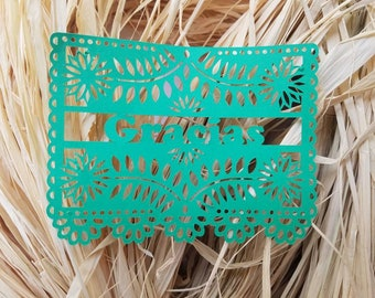 Mexican Papel Picado Paper Tags