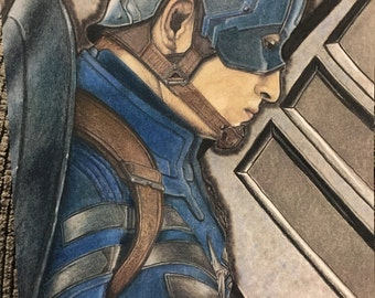 Captain America Print Marvel