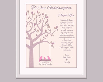 Gift For Goddaughter - Goddaughter Gift - Personalized Goddaughter Gift - Goddaughter Christening Gift - Christening Print
