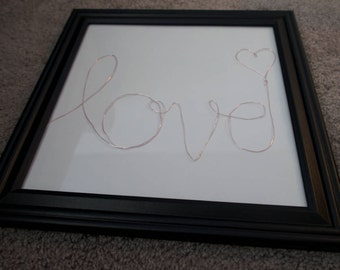 "Framed Wire Art - ""love"""