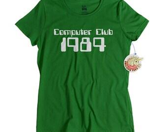 80s Shirt 1980s Computer Club T shirt for women and men geekery computer geek club 80s clothing