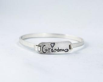 Handwriting Jewelry, Handwriting Tension Bracelet - Handwriting Tension Sterling Silver Bracelet - Memorial handwriting jewelry