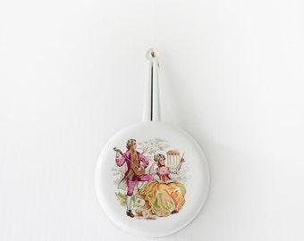 French Country Kitchen-Enamel Saucepans-Enamelware-Vintage french Enamel saucepans- White Enamelware-White Enamel