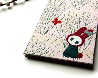 "Accordion Photo Album ""Bunny in Blossoms on Pink"" Yuzen"