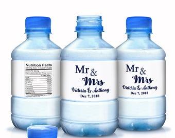 30 Personalized Wedding Water Bottle Labels - Bottled Water Labels - Wedding Bottled Water Labels - Water Bottle Wraps - Bottle Stickers