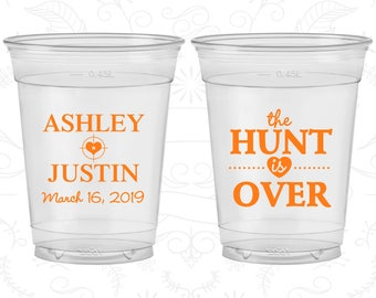 The Hunt is Over Wedding, Custom Soft Plastic Cups, Shooting Target, Disposable Cups (22)