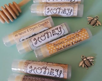 All Natural and Organic Homemade Honey Chapstick