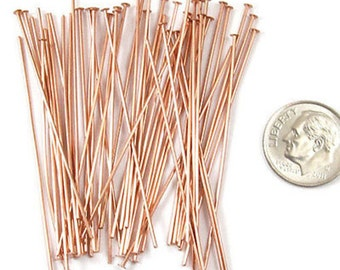 "TierraCast 21 Gauge COPPER Head Pins 2"" (50)"