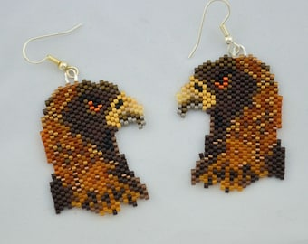 Brown Eagle Earrings