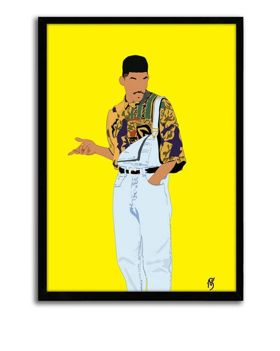 Fresh Prince Poster Classic TV Poster 90\'s Poster hip