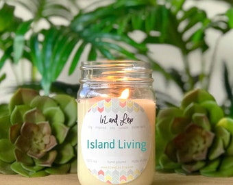 Island Living Soy Candle/Soy candle/Candle/Summer Candle