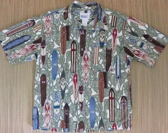 Hawaiian Shirt Men Embroidered Pocket Corona Extra Lite Beer Shirt Surfboard Surfer Shirt 100% Cotton Camp - 2XL - Oahu Lew's Shirt Shack
