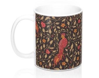 Phoenix Mug, 11 oz Ceramic, Mythical, Heraldic, Mystical, Myth, Magical Animals, Fantastic Beasts, Medieval