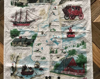 Vintage New Hampshire Tea Towel