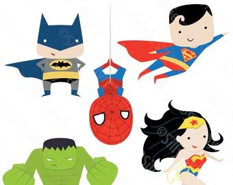 Superheroes Clip Art