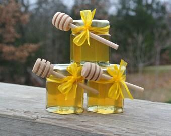 Bridal Shower Honey Favors, Wedding Edible Favors, 24 Jars Filled Fresh With Natural  HONEY & SAFETY SEALED