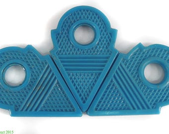 3 Talhakimt Trade Beads Pendants Light Blue Africa Loose 96324