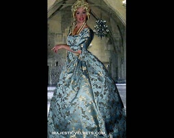 Baby Blue Marie Antoinette 18th c. Dress Halloween Renaissance Medieval Costume Clothes Clothing. Made to fit: Small to Plus Size #5
