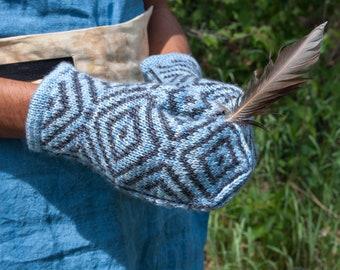 Knitting Pattern, Digital Pattern, Apex Mittens, Knit Mittens, Stranded Knitting, Fair Isle Knitting, Mittens, Knitting, Knit