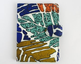 """8"""" Ankara Leaves Tablet Case // Notepad Holder & Cover // African Print"""