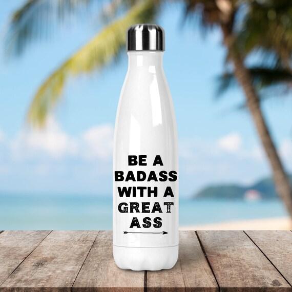 Stainless Steel Water Bottle - Funny Fitness Bottle - BPA Free Eco Friendly Water Bottle