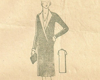 Dress Pattern 1920s Day Dress Bust 38 Original Mail Order Pattern #3132