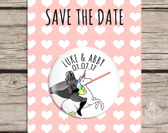 Unicorn Star Wars Save the Date Magnet