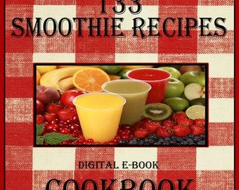 133 Smoothie Recipes E-Book Cookbook Digital Download