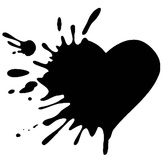 Broken Heart Vinyl Decal F33