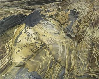 Illusion, Separation - Ltd Ed. Giclée Art Print on Canvas by Jane Nicol