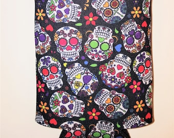 Sugar Skulls Day Of The Dead Dia De Los Muertos Can Cover