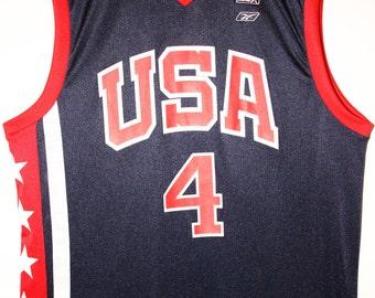 Reebok NBA Basketball Jersey Jersey USA team Allen Iverson 44 L