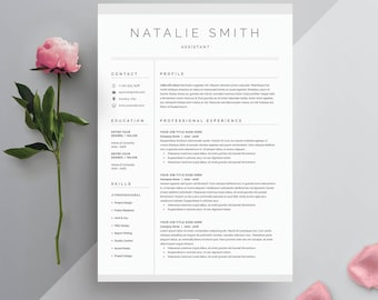 Resume Template 3 Page | CV Template + Cover Letter For MS Word | Instant  Digital